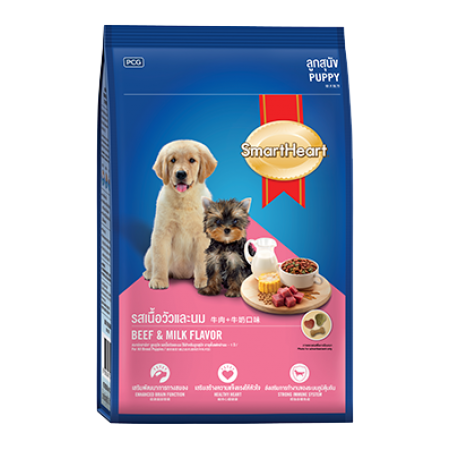 SmartHeart Puppy Beef & Milk Flavor сухой корм премиум класса для щенков всех пород и размеров со вкусом говядины и молока