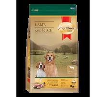 SmartHeart Gold Lamb and Rice сухой корм супер-премиум класса для собак всех пород средних и крупных размеров с ягненком и рисом