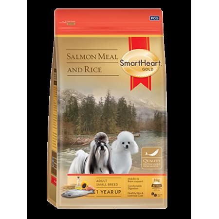 SmartHeart Gold Salmon meal and Rice сухой корм супер-премиум класса для собак всех пород малых размеров с лососем и рисом