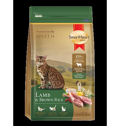 Smart Heart Gold Cat Lamb сухой корм супер-премиум класса для взрослых кошек с ягненком и коричневым рисом
