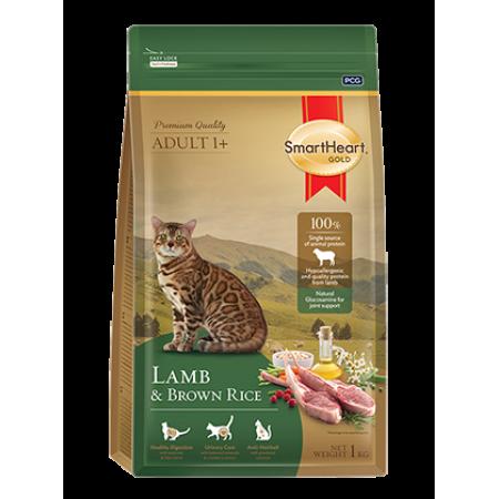 Smart Heart Gold Cat сухой корм супер-премиум класса для взрослых кошек с ягненком и коричневым рисом