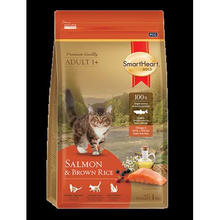 Smart Heart Gold Cat Salmon сухой корм супер-премиум класса для взрослых кошек с лососем и коричневым рисом