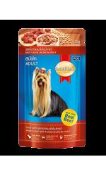 Smart Heart влажный корм для взрослых собак, кусок говядины в соусе