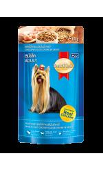 Smart Heart влажный корм для взрослых собак, кусок курицы в соусе