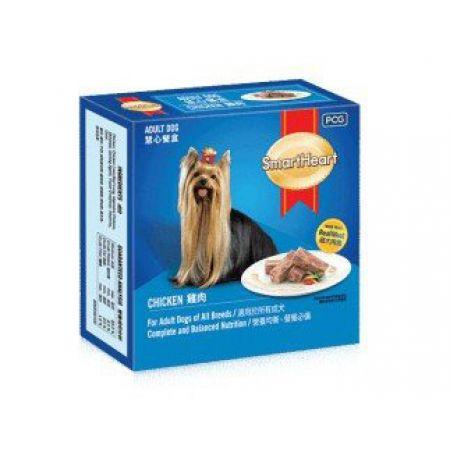 SmartHeart premium паштет для взрослых собак c курицей