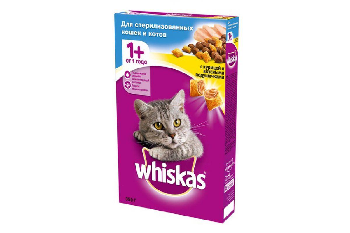 Whiskas корм для взрослых стерилизованных кошек всех пород ...