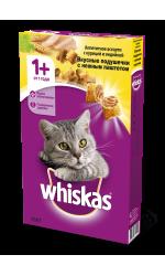 Whiskas корм для пожилых кошек всех пород, подушечки с паштетом из курицы и индейки