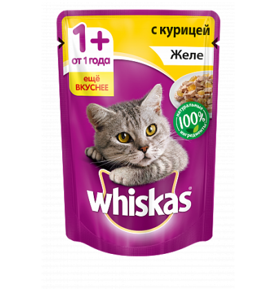 Whiskas желе с курицей