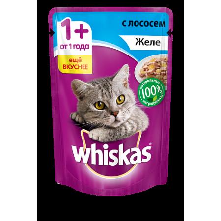 Whiskas желе с лососем