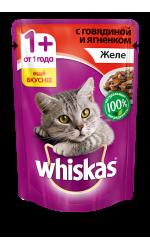 Whiskas желе с говядиной и ягненком